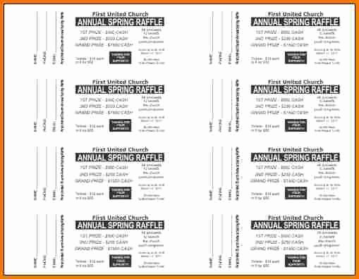 Word Template for Raffle Tickets Elegant Free Raffle Ticket Template for Word