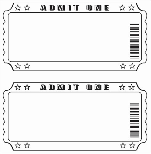 Word Template for Raffle Tickets Elegant Free Raffle Ticket Template