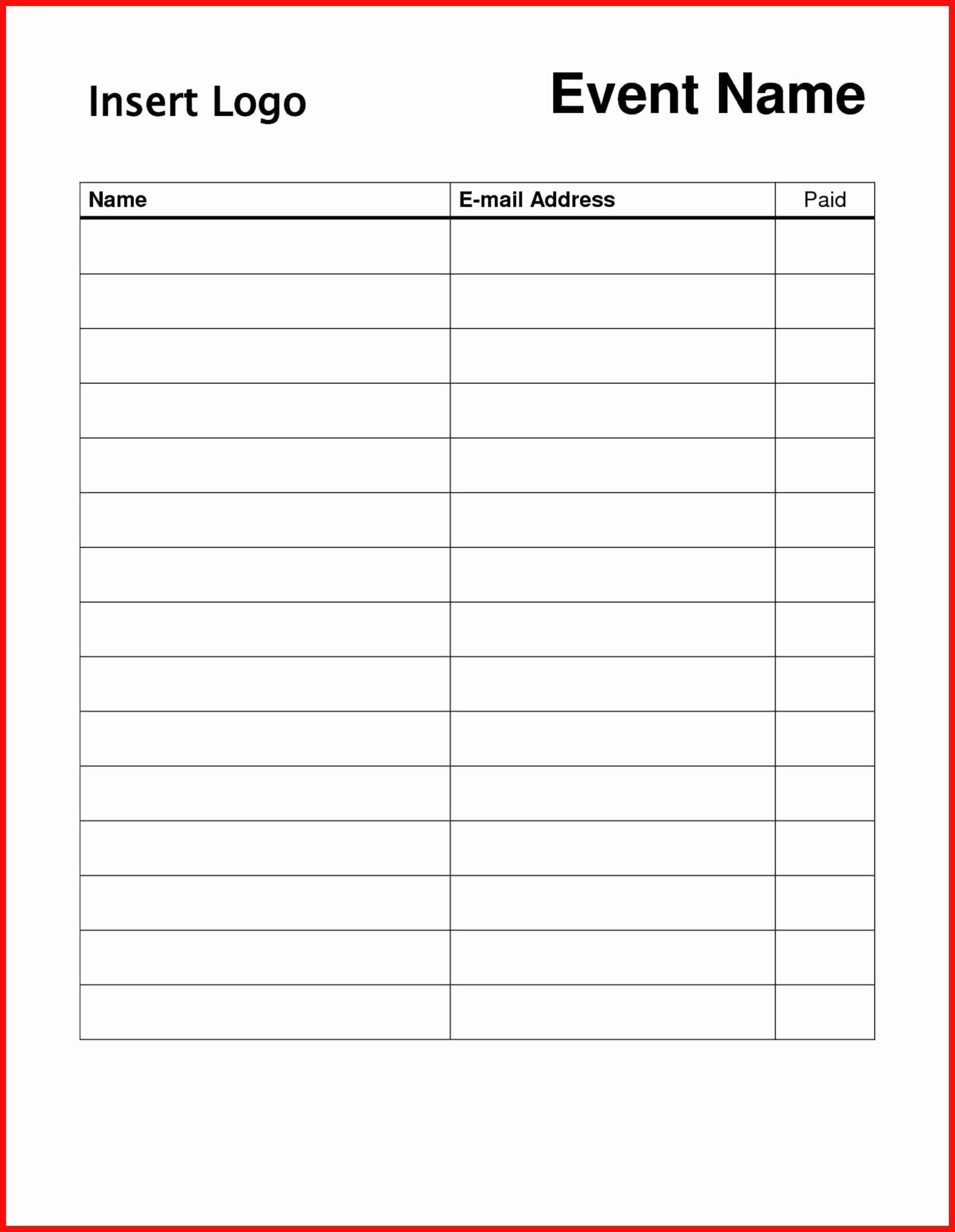 Word Template Sign In Sheet Beautiful Free Sign Templates Word