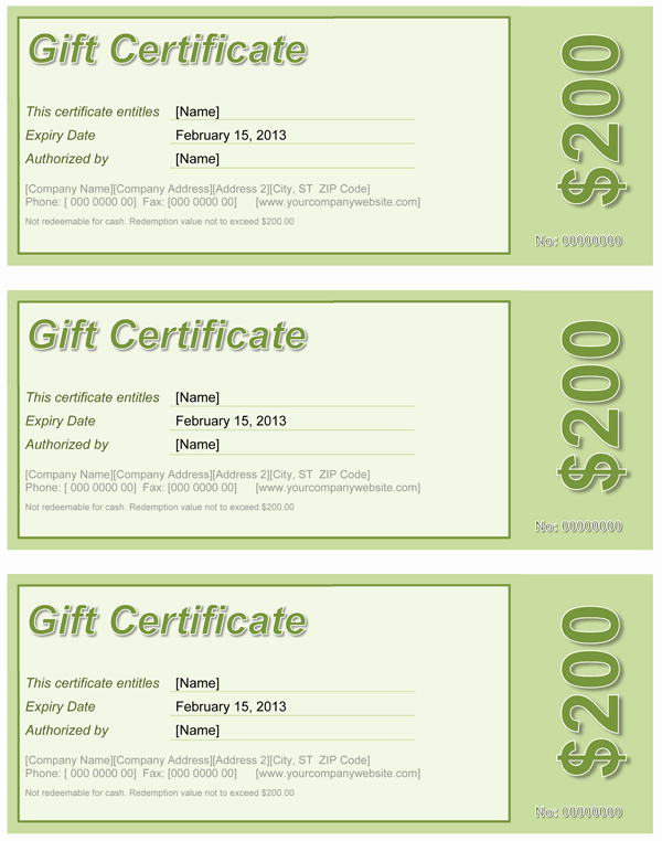 Word Templates for Gift Certificates Awesome Gift Certificate