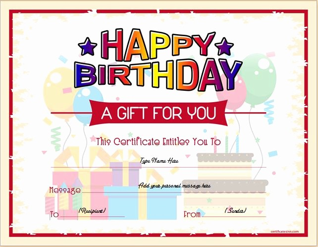 Word Templates for Gift Certificates Beautiful Birthday Gift Certificate Sample Templates for Word