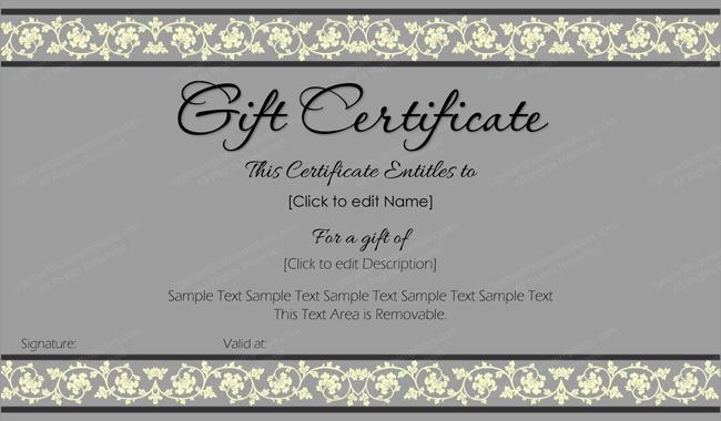 Word Templates for Gift Certificates Best Of Beauty In Gray Gift Certificate Template Get Certificate