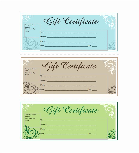 Word Templates for Gift Certificates Elegant Discreetliasons