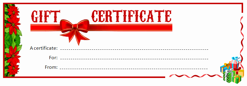 Word Templates for Gift Certificates Fresh Printable Gift Certificate Ms Word Template