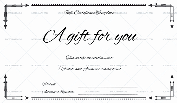 Word Templates for Gift Certificates Inspirational Business Gift Certificate for Microsoft Word