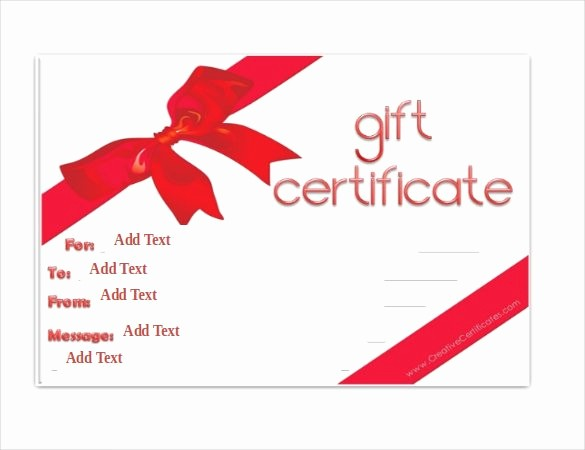 Word Templates for Gift Certificates Inspirational Gift Certificate Template 42 Examples In Pdf Word In