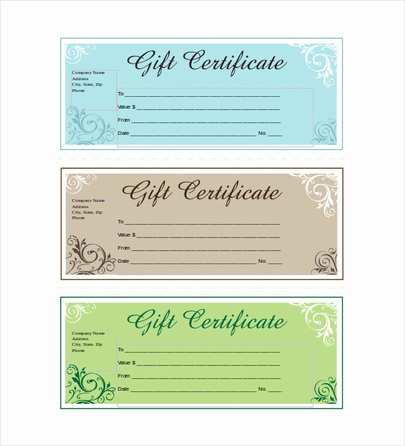 Word Templates for Gift Certificates Luxury 14 Business Gift Certificate Templates Free Sample
