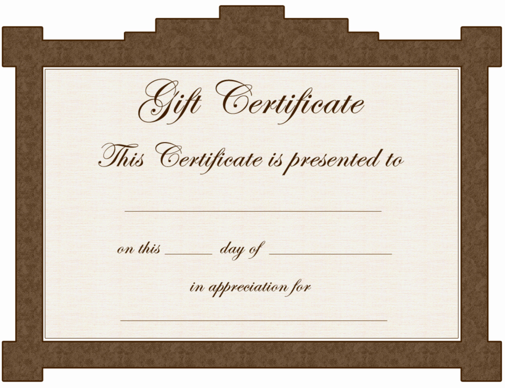 Word Templates for Gift Certificates Luxury Gift Certificate Template