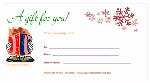 Word Templates for Gift Certificates New Gift Certificate Template