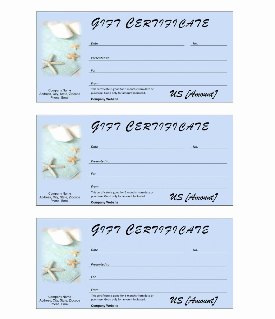 Word Templates for Gift Certificates New Spa Gift Certificate Ms Word Templates