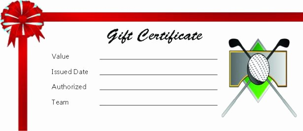 Word Templates for Gift Certificates Unique Adorable Golf Certificates for Professional Players Free