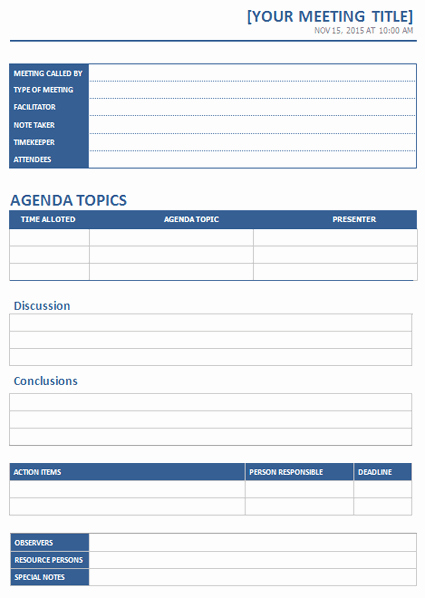 Word Templates for Meeting Minutes Awesome Ms Word Meeting Minutes Template