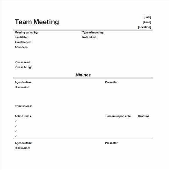 Word Templates for Meeting Minutes Best Of 16 Microsoft Word Minute Templates Free Download