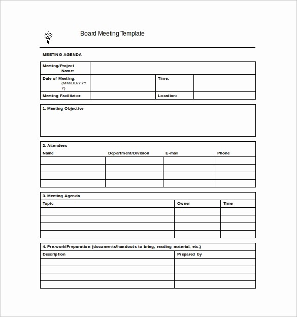 Word Templates for Meeting Minutes Lovely 42 Free Sample Meeting Minutes Templates