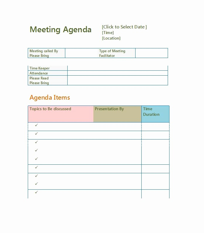 Word Templates for Meeting Minutes Lovely 51 Effective Meeting Agenda Templates Free Template