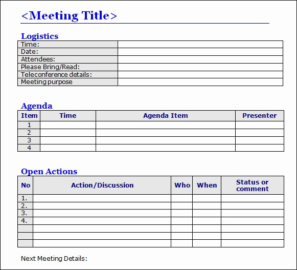 Word Templates for Meeting Minutes Lovely Meeting Minutes format Word Nisartmacka