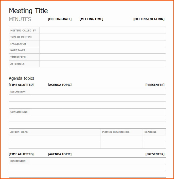 Word Templates for Meeting Minutes Luxury 4 Meeting Minutes Template Word Bookletemplate