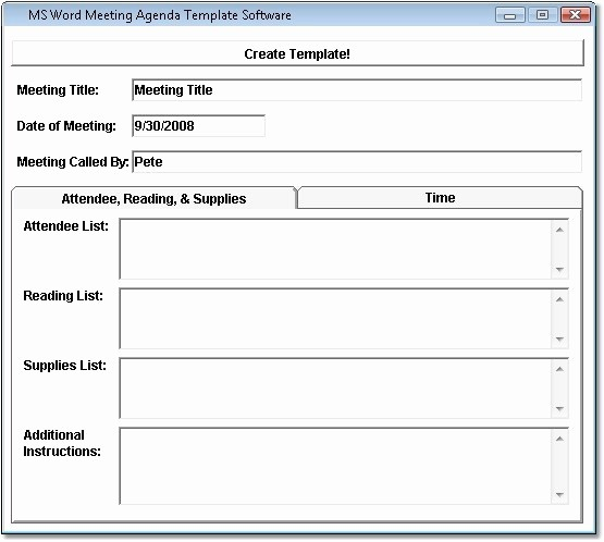 Word Templates for Meeting Minutes New Ms Word Meeting Agenda Template software Free Download
