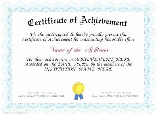 Wording for Certificate Of Achievement Awesome 5 6 Certificate Of Achievement Wording