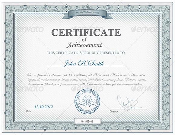 Wording for Certificate Of Achievement Unique 9 Certificate Of Achievement Templates