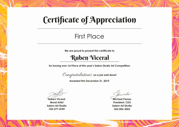 Words for Certificate Of Appreciation Awesome Certificate Template 62 Free Printable Word Excel Pdf