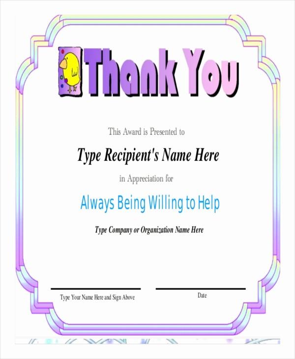 Words for Certificate Of Appreciation Elegant Certificate Of Appreciation Template 25 Free Word Pdf