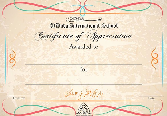 Words for Certificate Of Appreciation Lovely 29 Certificate Of Appreciation Templates Word Pdf Psd