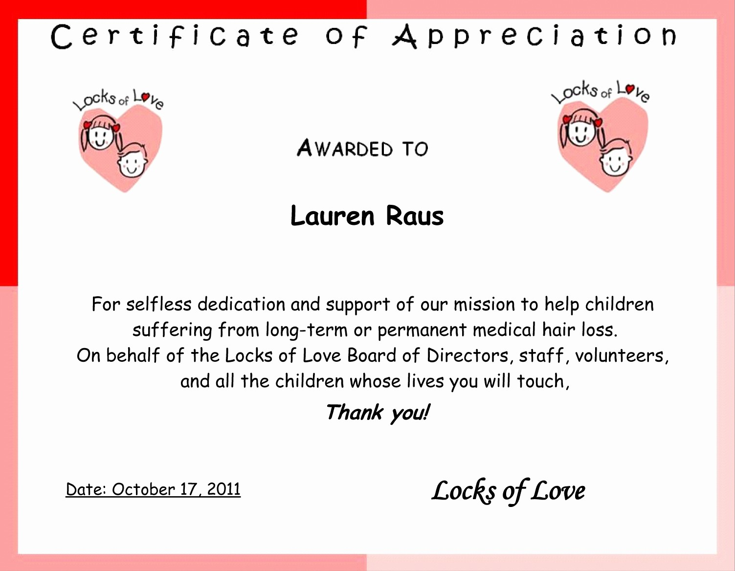 Words for Certificate Of Appreciation New Lovely Traub Life Page 5
