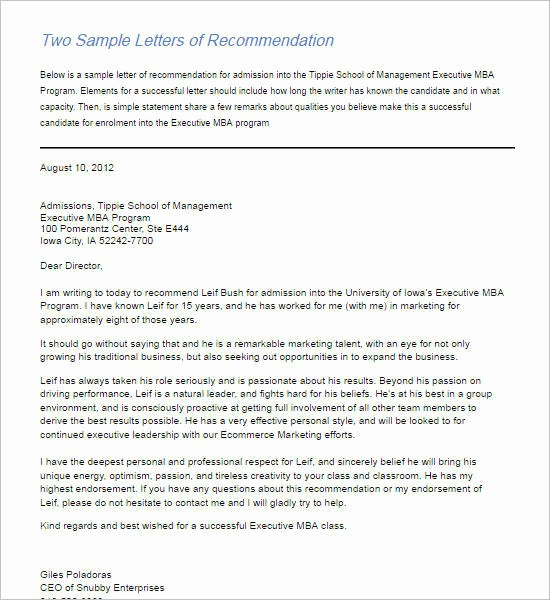 Words for Letters Of Recommendation Awesome 55 Re Mendation Letter Template Free Word Pdf formats