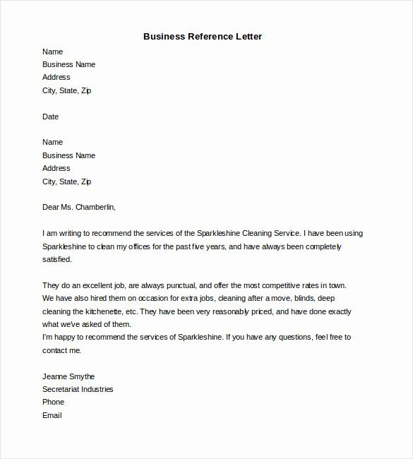 Words for Letters Of Recommendation Lovely 19 Reference Letter Templates Doc Pdf