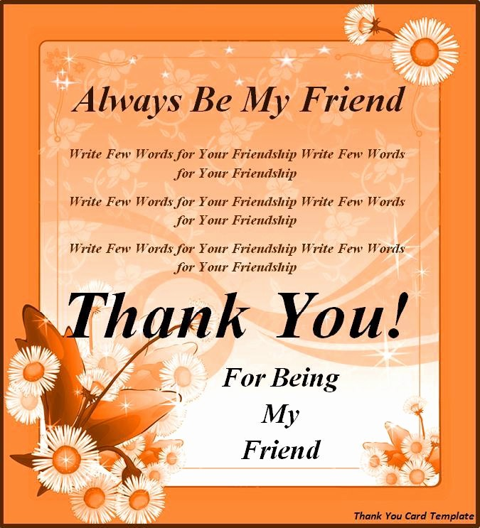 Words for Thank You Card Awesome Thank You Card Template Best Word Templates