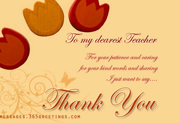 Words for Thank You Card Awesome Thank You Messages for Teachers 365greetings