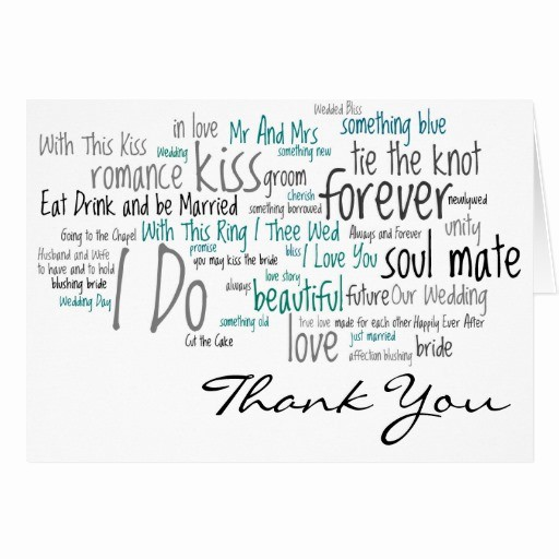 Words for Thank You Card Best Of Wedding Phrases Thank You Cards