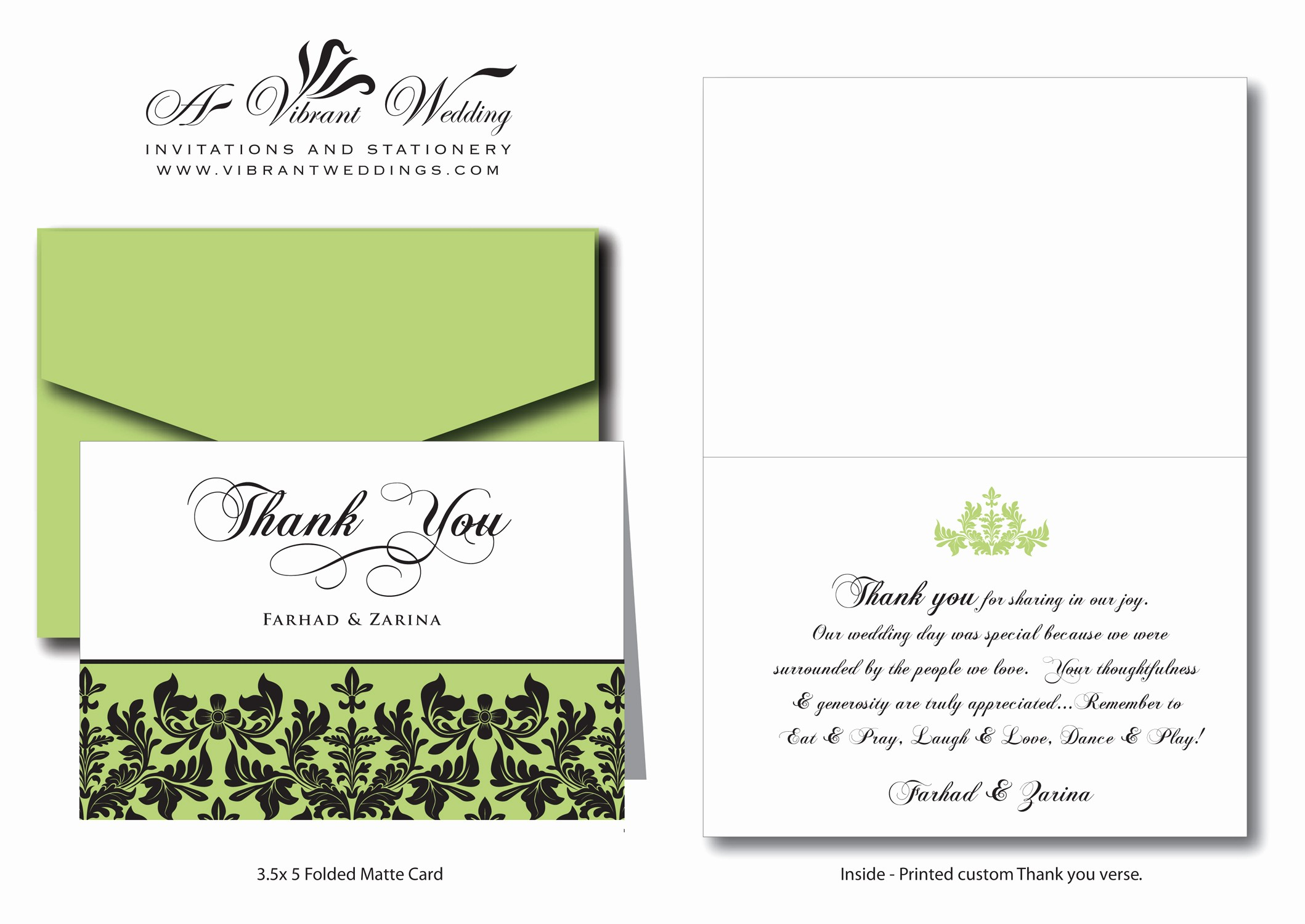 Words for Thank You Card Elegant Thank You Wording – A Vibrant Wedding