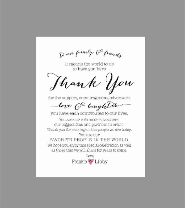 Words for Thank You Card Fresh 70 Thank You Card Designs