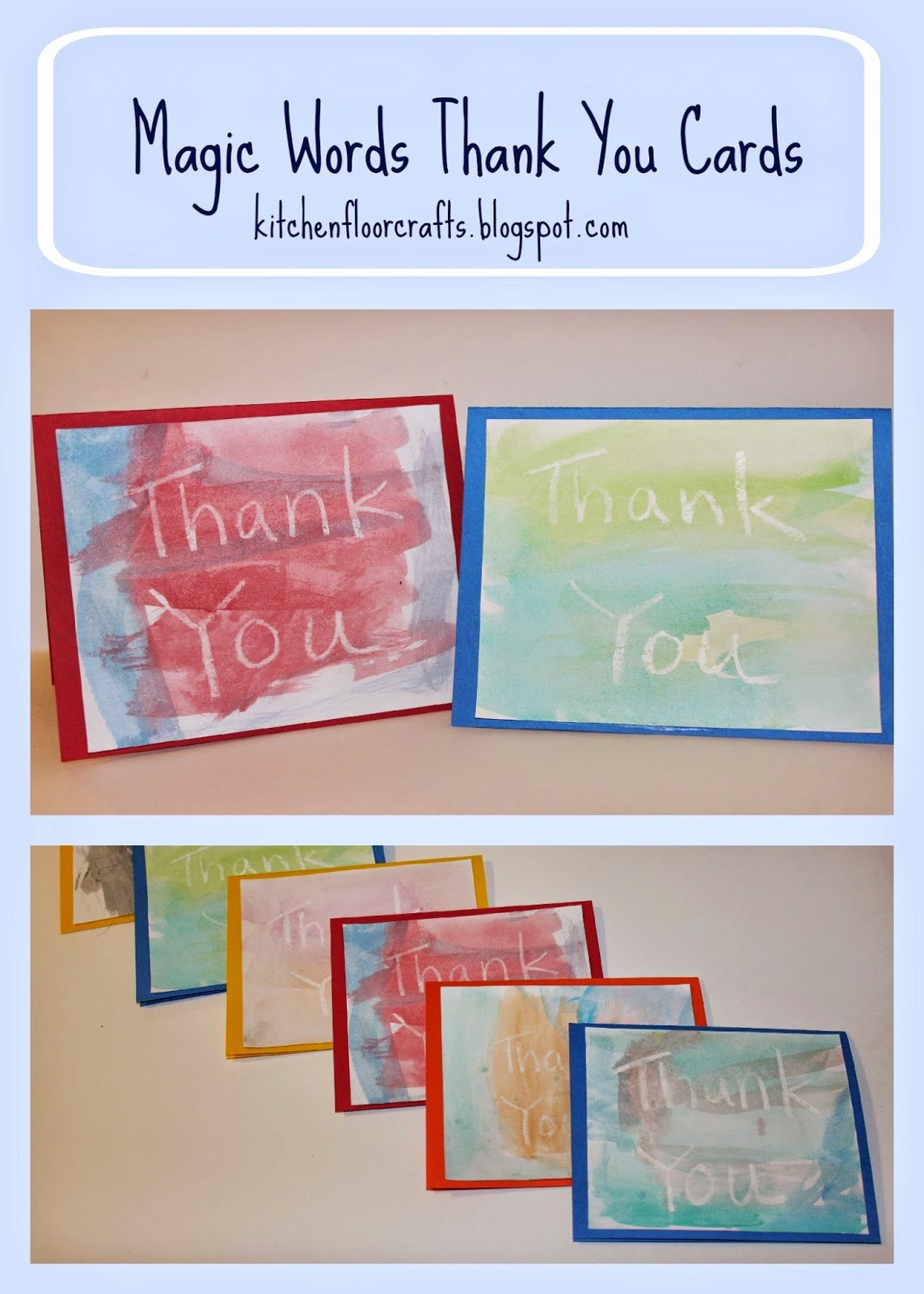 Words for Thank You Card Fresh Kitchen Floor Crafts Magic Words Thank You Cards