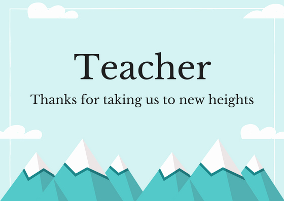 Words for Thank You Card Fresh Teacher Thank You Card Wording for A Great Year