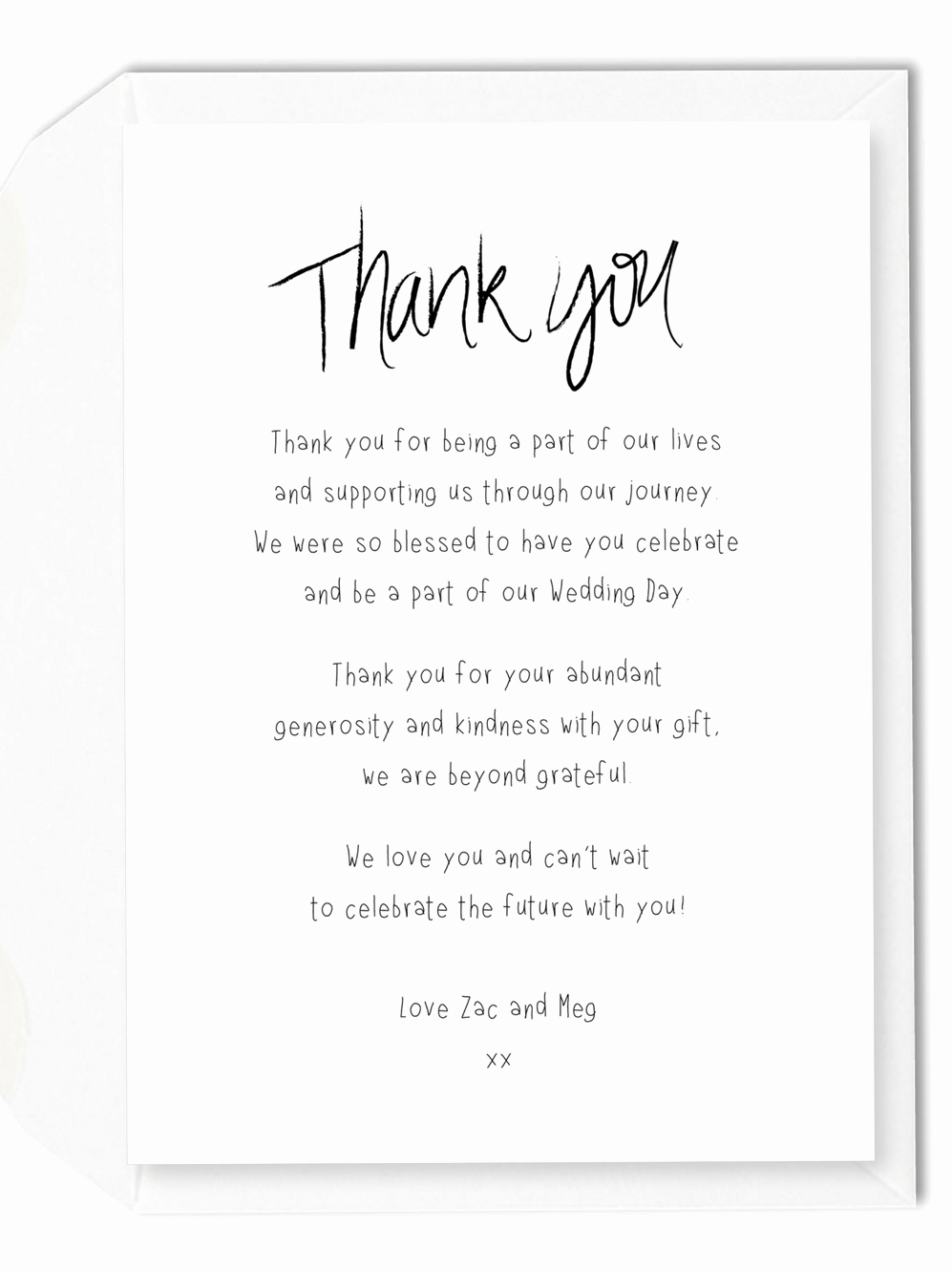 Words for Thank You Card Inspirational 5 Wording Ideas for Your Wedding Thank You Cards – for the