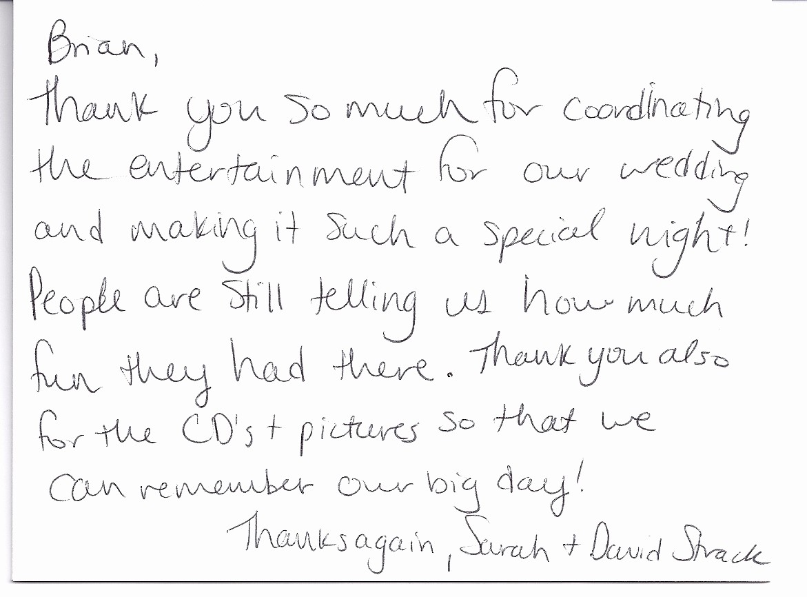 Words for Thank You Card Inspirational Wedding Client Thank You Note Brian Kelm Productions Blog