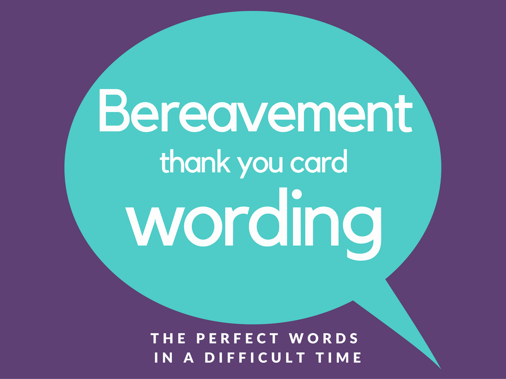 Words for Thank You Card Lovely Bereavement Thank You Notes