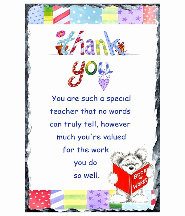 Words for Thank You Card New Thank You Teacher Candles Great Gift Ideas for Mam