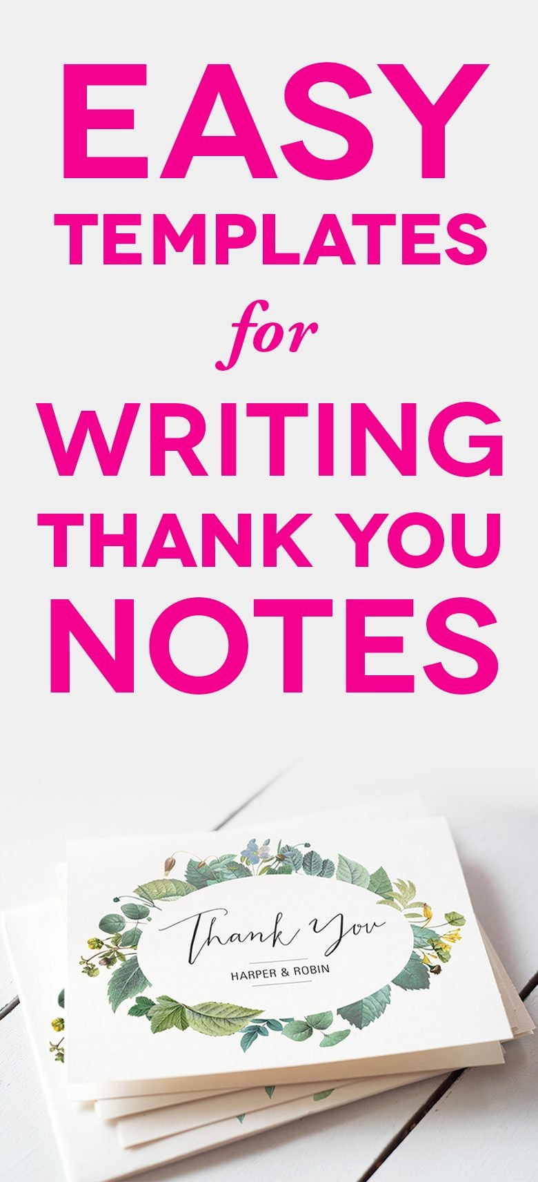 Words for Thank You Cards Awesome Easy Wedding Thank You Card Wording Templates