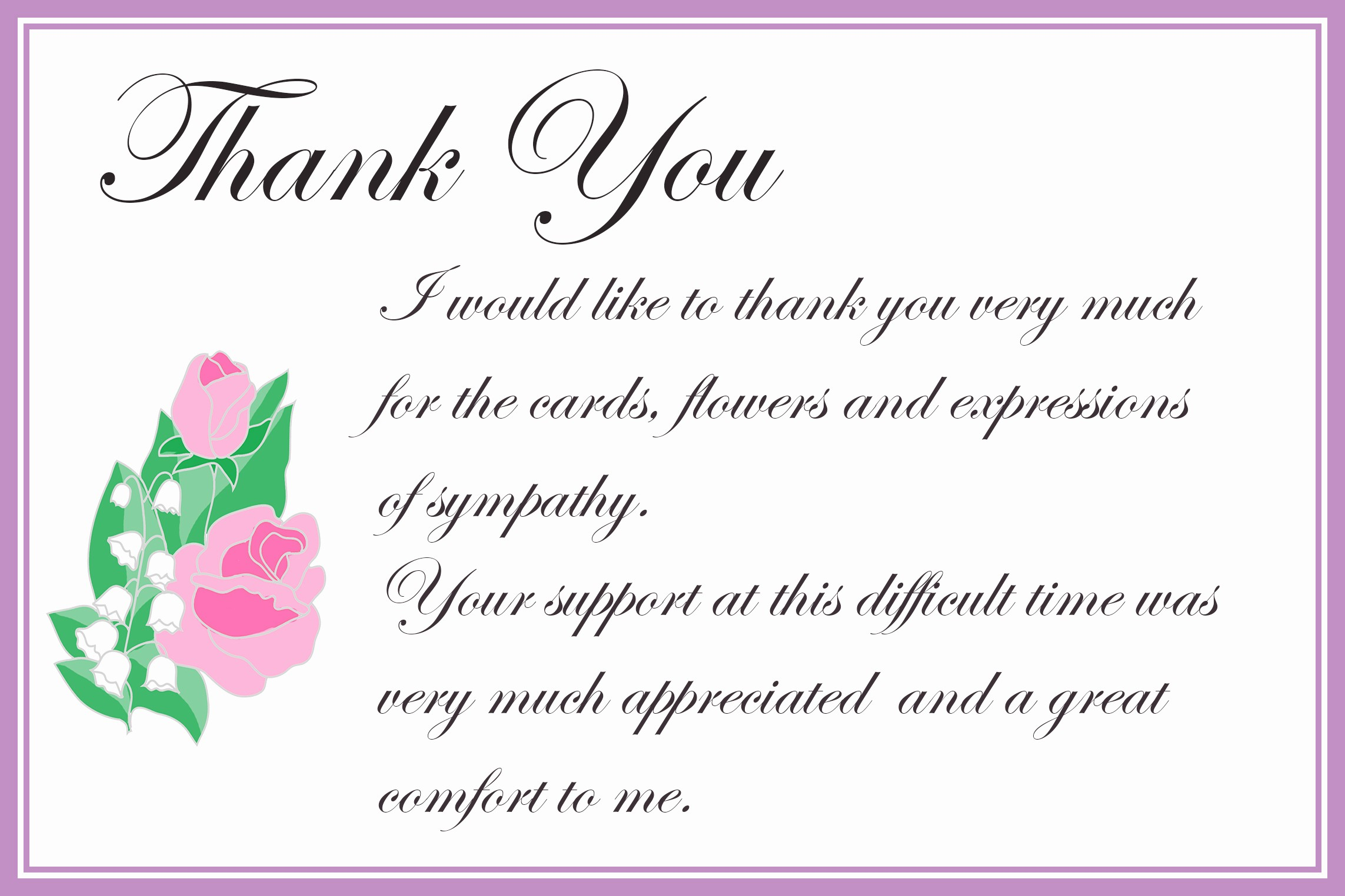Words for Thank You Cards Beautiful Printable Thank You Cards – Free Printable Greeting Cards