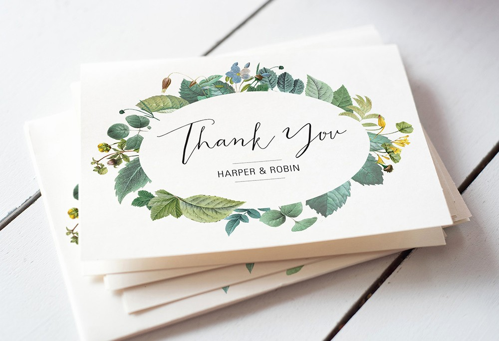 Words for Thank You Cards Best Of Easy Wedding Thank You Card Wording Templates