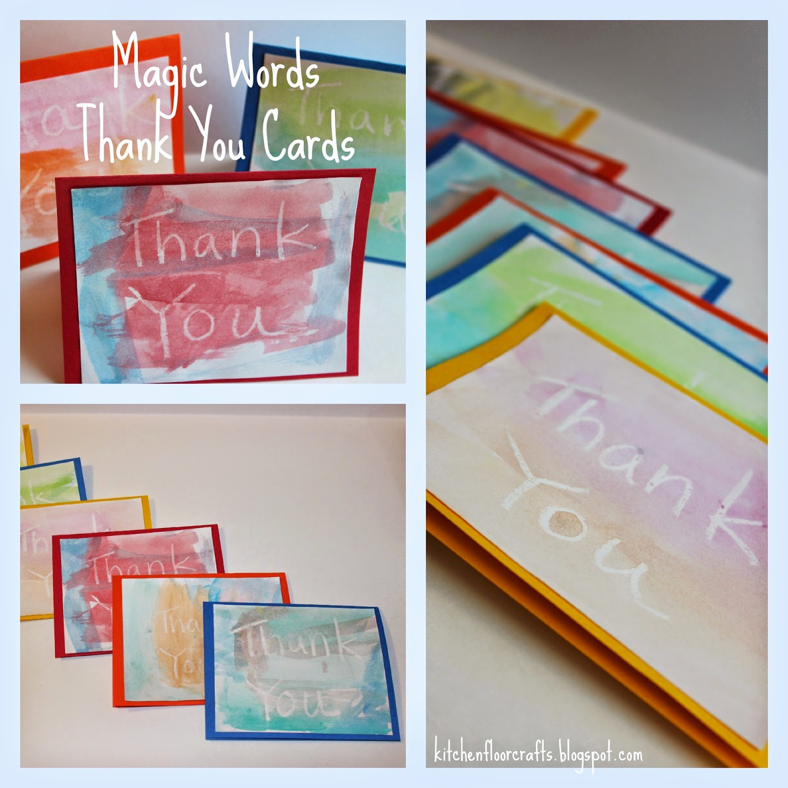 Words for Thank You Cards Best Of Kitchen Floor Crafts Magic Words Thank You Cards