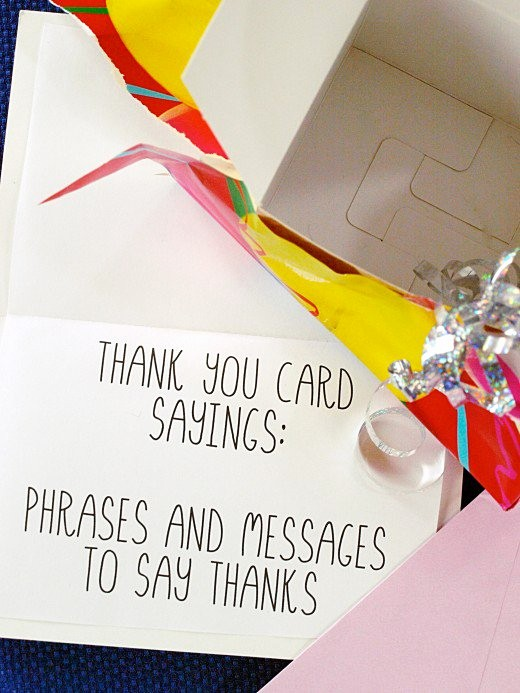 Words for Thank You Cards Elegant Thank You Card Sayings Phrases and Messages