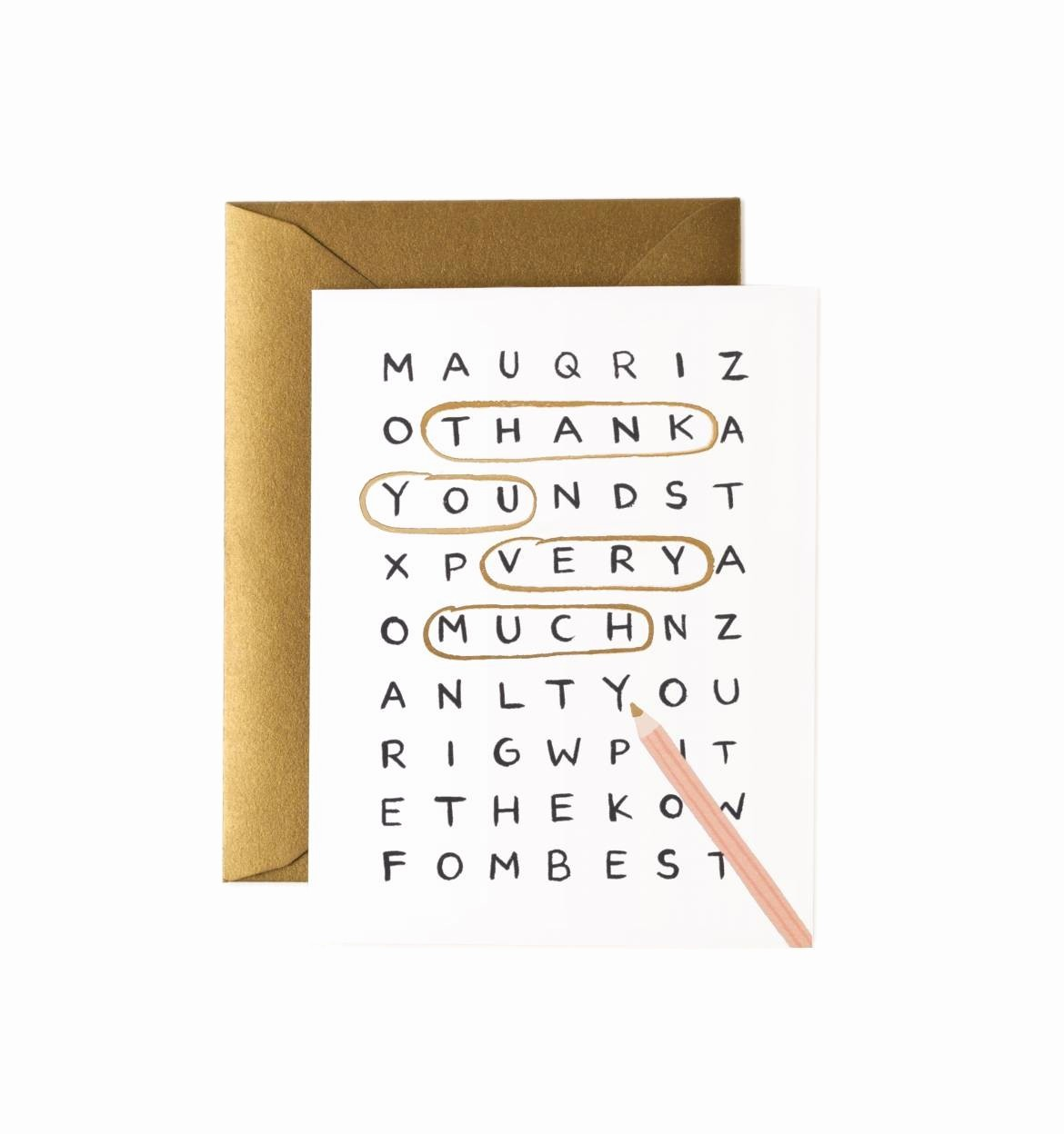 Words for Thank You Cards Inspirational Rifle Paper Co Word Search Thank You Card the Paper Parlour