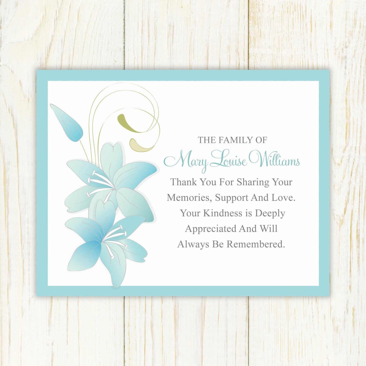 Words for Thank You Cards Lovely Sympathy Card Wording