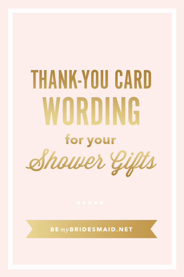 Words for Thank You Cards Unique Templates and Etiquette for Bridal Shower Thank You Notes
