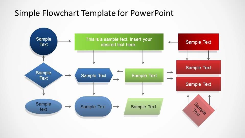 Work Flow Chart Template Excel Inspirational Simple Flowchart Template for Powerpoint Slidemodel